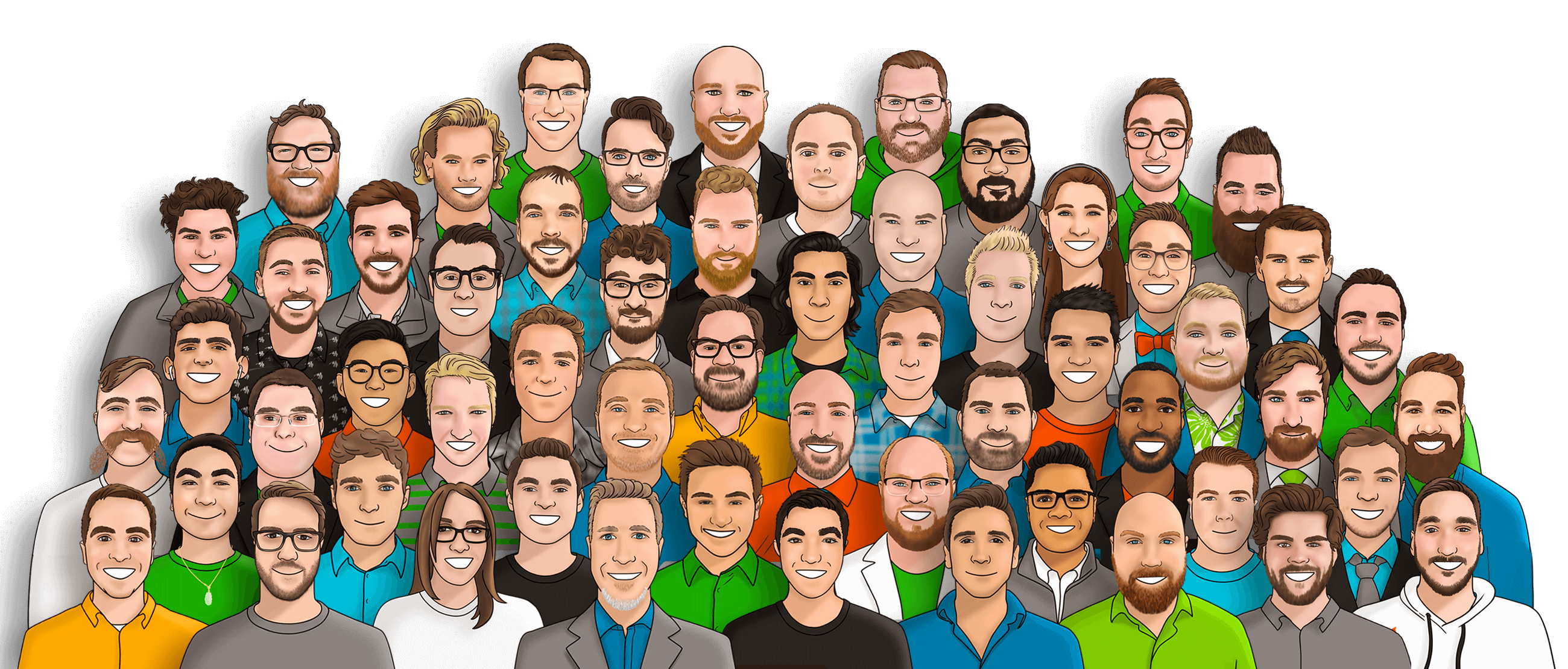An illustration of the Liatrio Team.